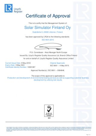 Accelerated weather testing and tools for marketing - Solar Simulator Oy